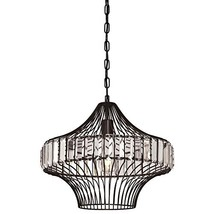 Westinghouse Lighting 6106200 One-Light Indoor Pendant, Matte Black Finish with  - $151.63