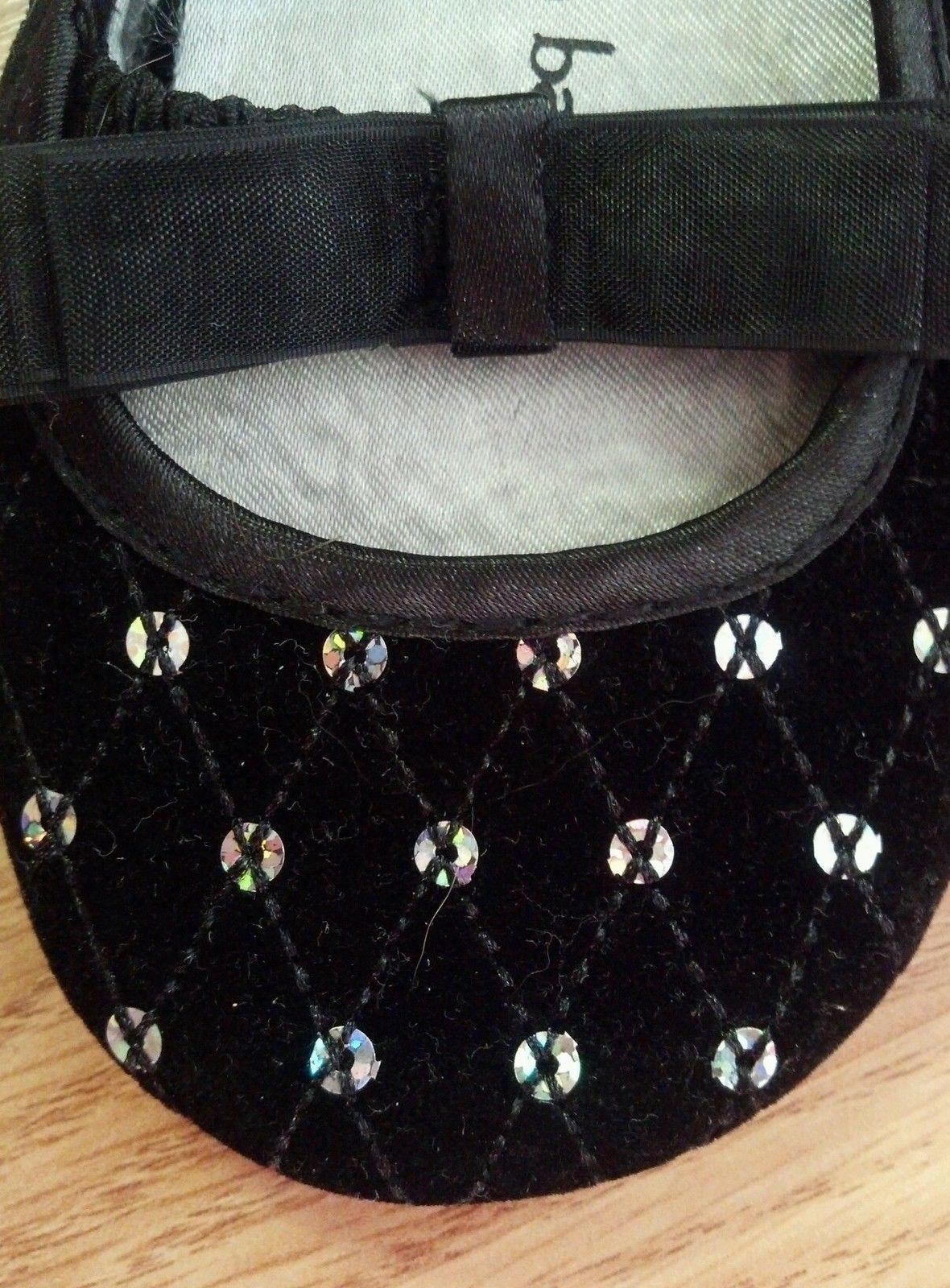 Baby Girl's Size 2 Infant Toddler Dress Shoes Black Velvet W/ Sequins Koala Baby
