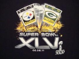 NFL Super Bowl XLV 45 Pittsburgh Steelers Green Bay Giants Football T Sh... - $17.17