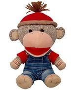 Build a Bear Buddies Sock Monkey Red Tee Denim Overalls Mini 9in. Stuffe... - $116.95