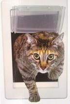 "PERFECT PET SOFT FLAP CAT DOOR TELESCOPING FRAME Cats Up To 12 LB, 5""x7"" Flap - $23.75"