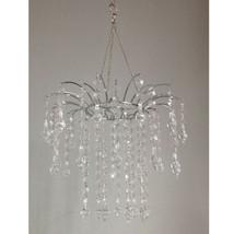 Acrylic Crystal Diamond Clear Beaded Hanger Chandelier Centerpiece Weddi... - $32.78