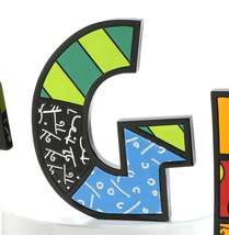 """6"""" Romero Britto Alphabet Letter Figurine Various Freestanding or Wall Mounted image 6"""