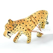 Hand Carved & Painted Jacaranda Wood Cheetah Safari Ornament Made in Kenya image 2