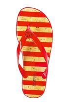 Michael Kors MK Women's Premium Designer Striped Jet Set Jelly Slip On Sandals image 10