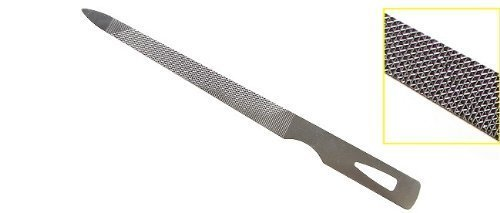 4.5 Inch Triple Cut Stainless Steel Nail File 3 Pack