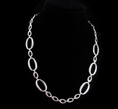 Crown Trifari Necklace - vintage silver adjustable choker  couture jewelry  - $115.00