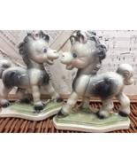 FRISKY THE PONY Book Ends Vintage REMPEL Ceramic HORSE FIGURINE 40s Nurs... - $48.15