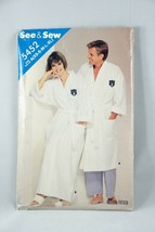 Butterick See & Sew Bathrobe Sewing Pattern 5452 Vintage 1985 Size XS - XL - $5.88