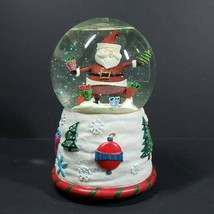 San Francisco Music Box Company Santa Juggling Waterglobe Snow Globe Wat... - $34.99