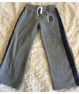 Carters Boys Gray Navy Blue Side Stripe Champion 8 Sweatpants 7 - $7.38