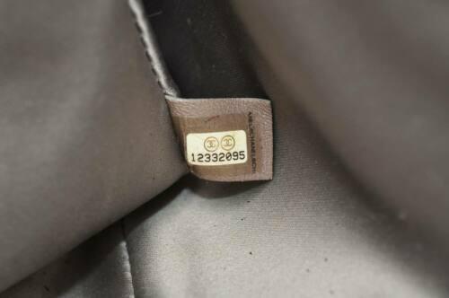 CHANEL Nylon Matelasse Chain Shoulder Bag Black Auth 9576 **Powder image 12
