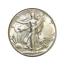 1945 D Walking Liberty Half Dollar - Gem BU / MS / UNC - $49.45