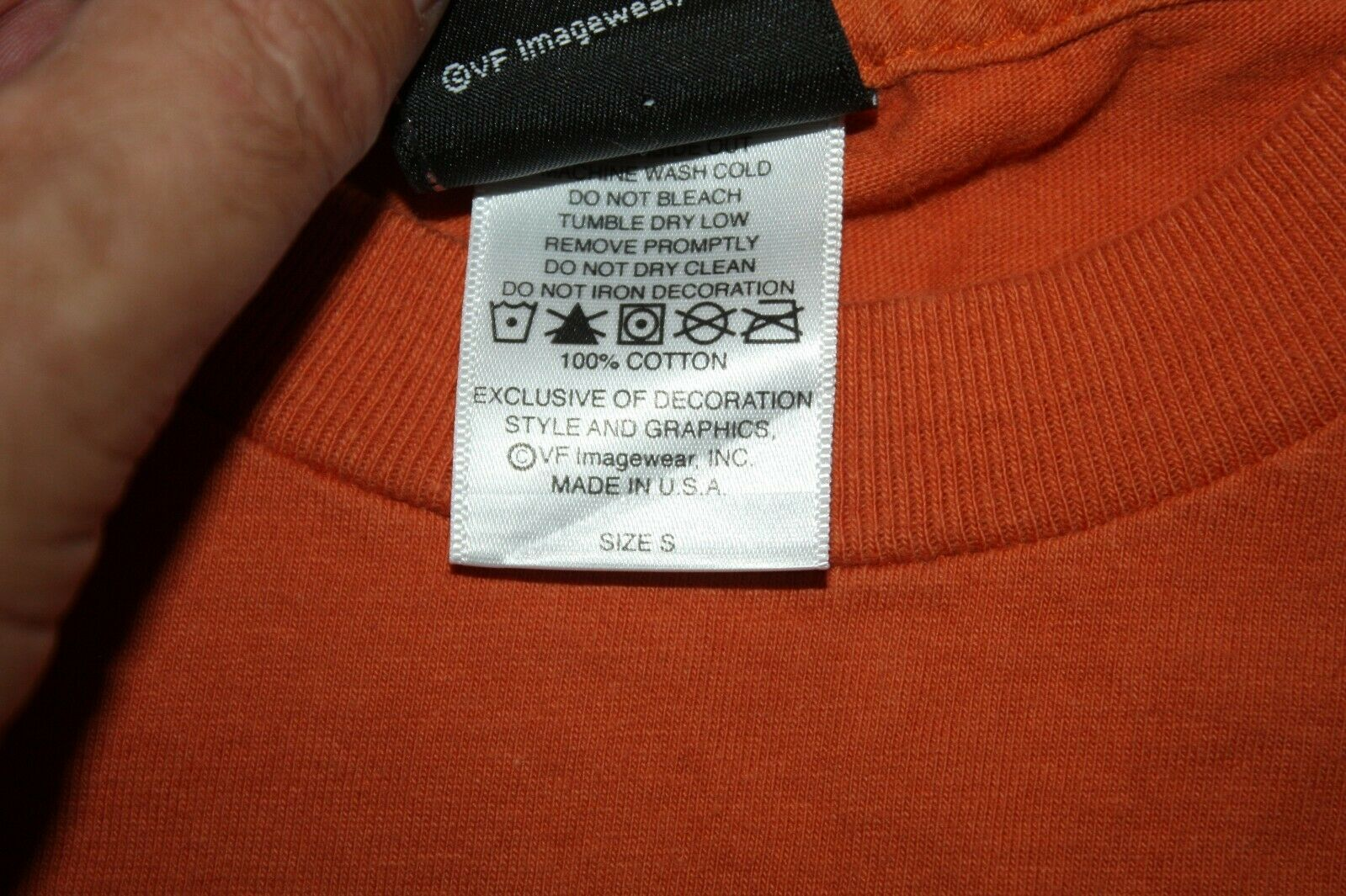 Harley Davidson Mens T-Shirt Orange Battlefield Harley Gettysburgh PA Size Small image 7