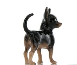 Hagen Renaker Pedigree Dog Chihuahua Large Black and Tan Ceramic Figurine image 6