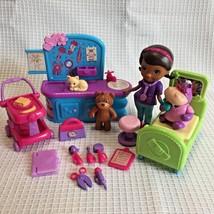 Doc McStuffins Check Up Play Set Lot Doc Hallie Disney 16 Pieces - $12.99