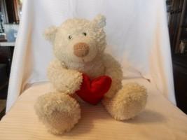 Hallmark Shaggy Plush Bear with Heart, Talks Hug Me, Squeeze Me, Love Me - $18.55