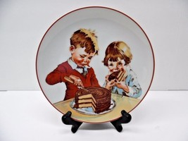 Vintage 1980 Shefford Porcelain Plate Cover Of Hershey`s 1934 Chocolate ... - $13.98