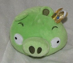 Angry Birds King Pig Stuffed Plush Doll Toy 2010 Commonwealth Rovio Green Sounds - $32.66