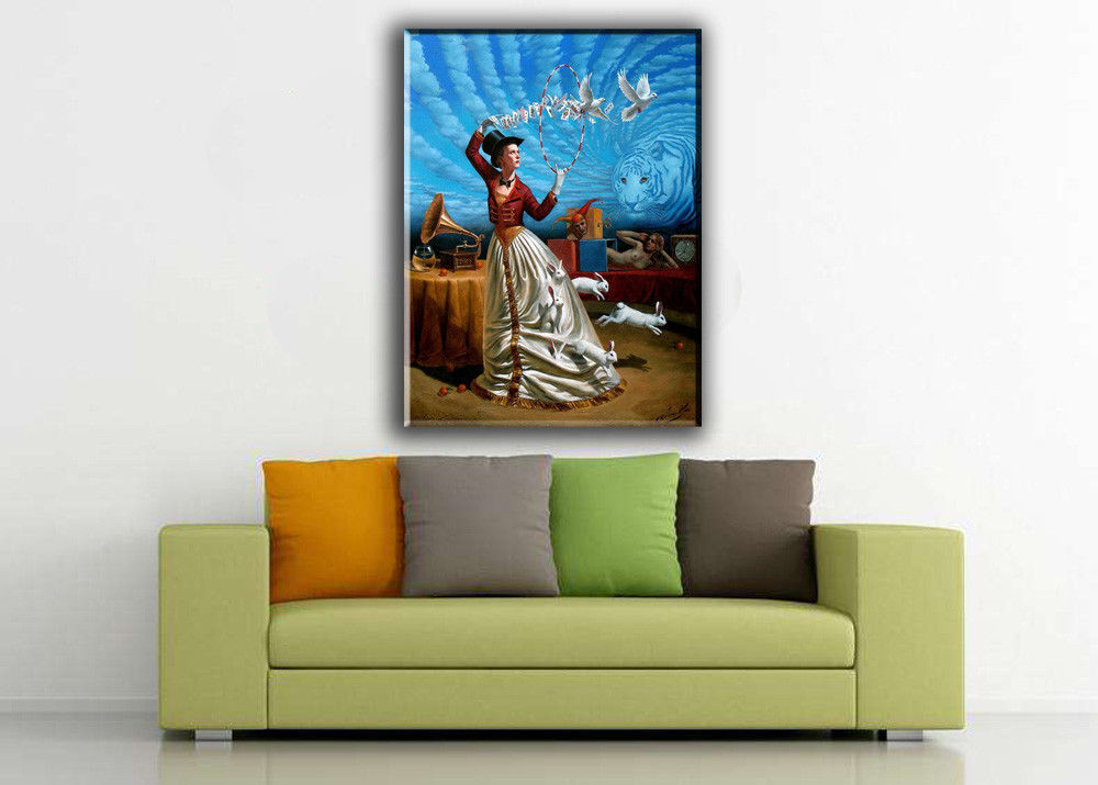 "Cartoon Art Home Decor Oil Painting Print On Canvas""Magic of Trivial Illusions"""