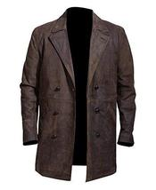 John Hurt War Costume Doctor Who Brown Leather Coat image 1