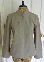 Eileen Fisher Lightweight Cotton Jacket M Stretch Beige Stand Up Collar - $39.95