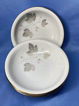 Vintage Seltmann Weiden Bavaria Set of 4 White Berry Bowls Made In Germany - $14.99