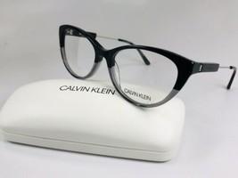 New Calvin Klein CK19706 074 Black & Crystal Smoke Eyeglasses 54mm with Case - $79.15