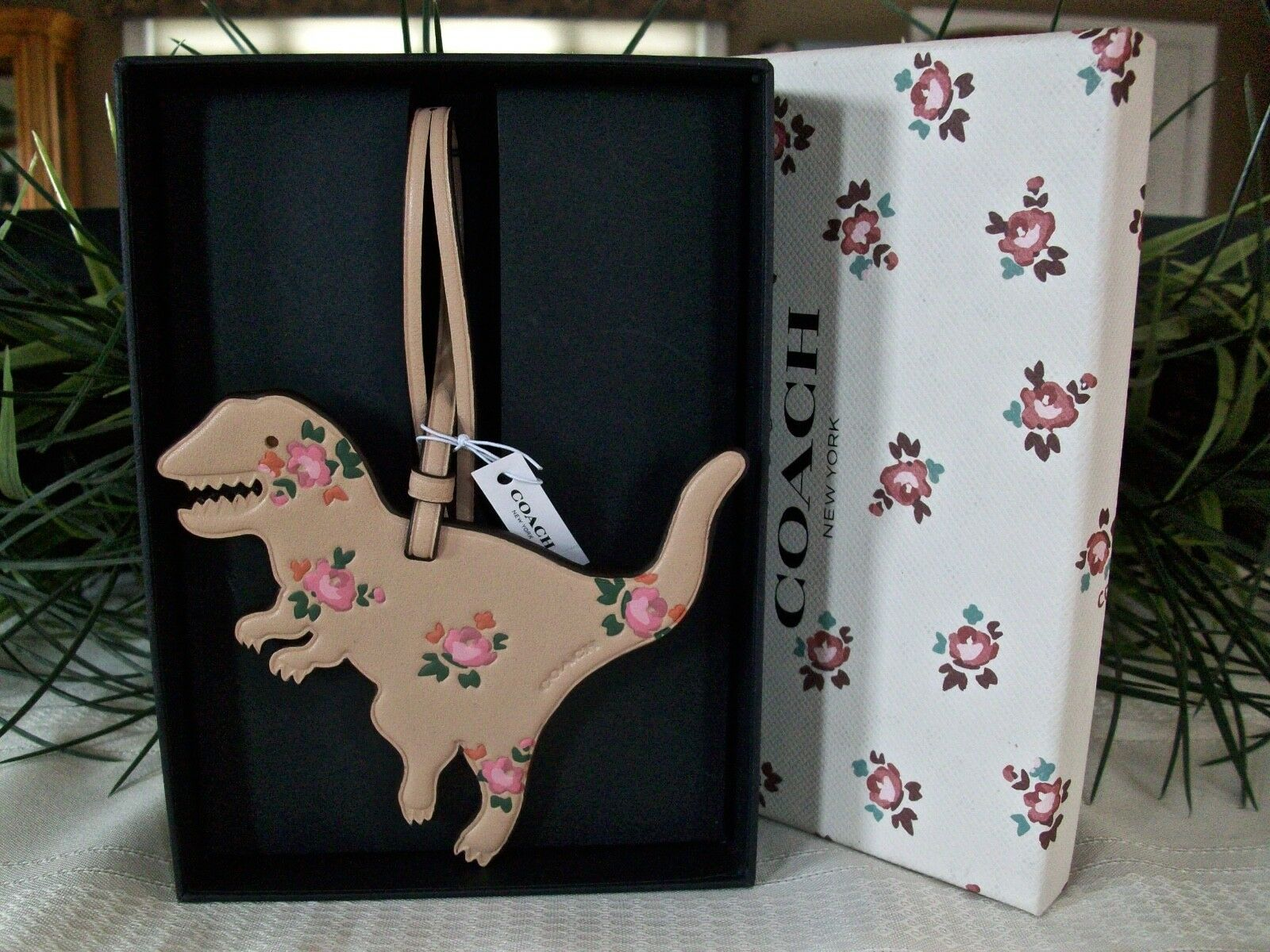 Coach Boxed Leather Printed Floral Rexy Dinosaur Charm Ornament 27418 Beechwood image 5