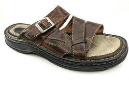 BORN Womens 42 (EUR) Brown Leather Sandals Slip On Buckle Comfort Sole - $27.58