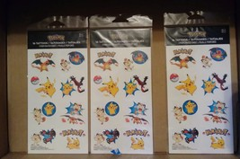 48ct Pokemon Pikachu & Friends Tattoos Birthday Decoration Party Favors ... - $15.09