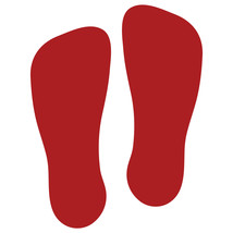 LiteMark Red Removable Flat-Toe Sockprint Decal Stickers - Pack of 12 - $19.95