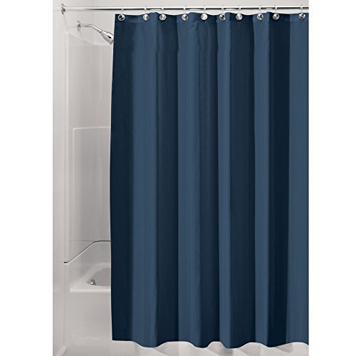 InterDesign Fabric Shower Curtain, Mold- and Mildew-Resistant Water-Repellent Ba
