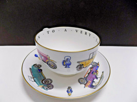 ROYAL WORCESTER CLASSIC CARS OVERSIZED CUP SAUCER Very Important Person ... - $28.50