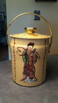 VINTAGE MURRAY-ALLEN REGAL CROWNOriental TIN WITH LID & HANDLE made in E... - $12.00
