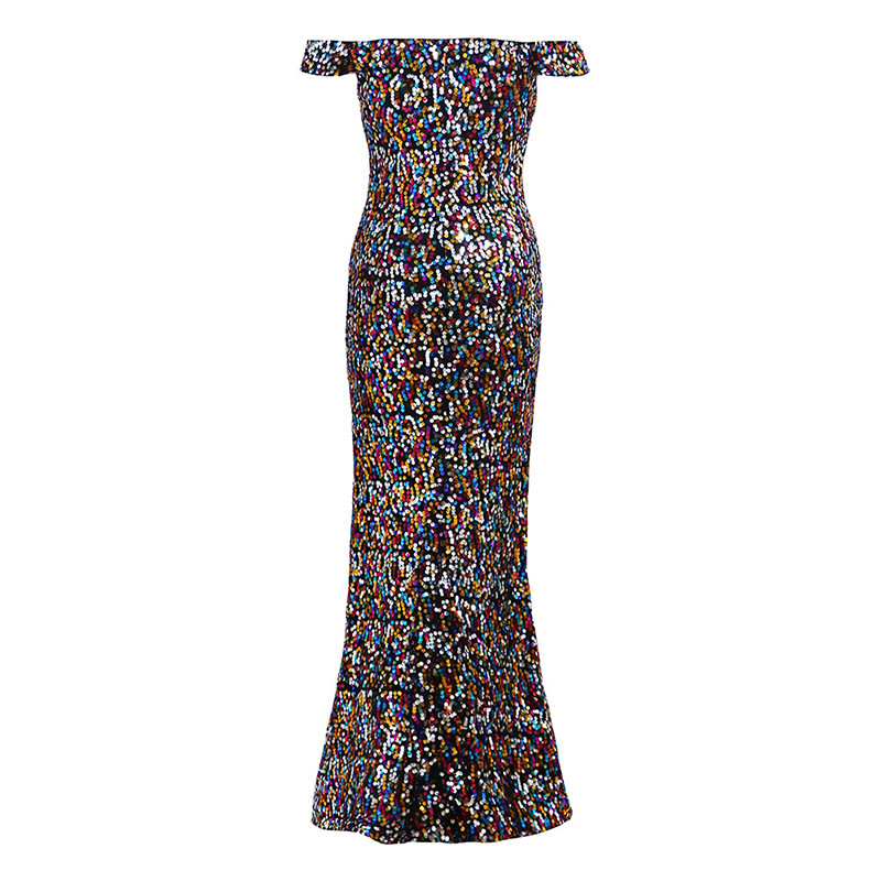 Sexy Off Shoulder Sequin Mermaid Prom Dress Cheap Women Party Gowns 2018