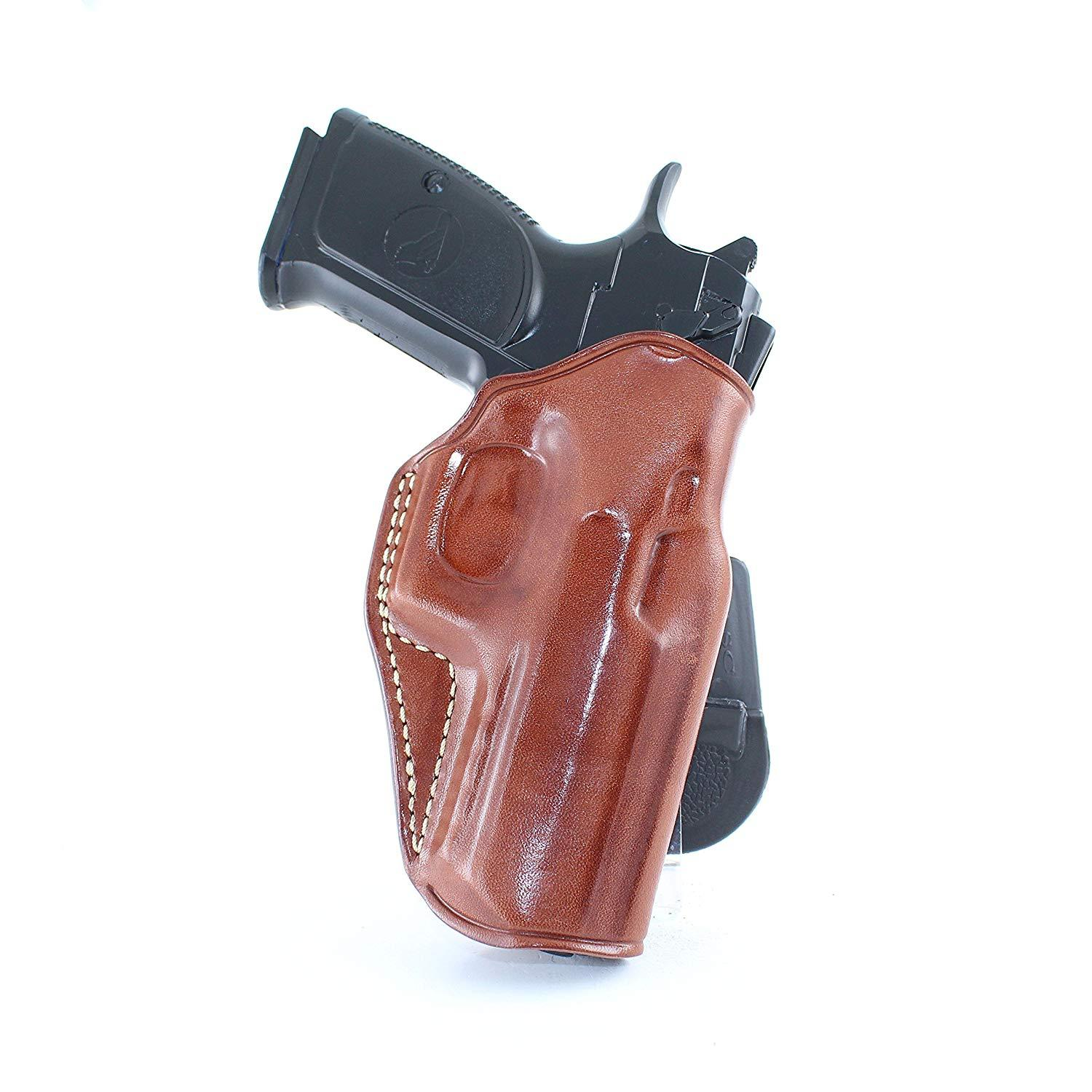 63f51224 ... Baby Desert Eagle 40 Review: LEATHER PADDLE OWB HOLSTER FOR BABY DESERT  EAGLE III.