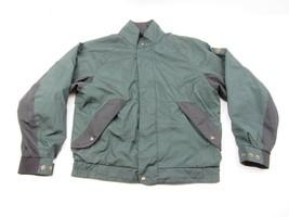 Footjoy Dryjoys Green Black Check Zip Snap Up Rain Golf Jacket Mens M - $24.70