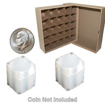 Guardhouse Large Dollar/Tan Coin Tube Box with 25 Numis Square Coin Tubes - $38.98