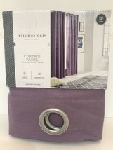 "Threshold Light Filtering Curtain Panel Light Plum Grommet SOLID 54""x84""... - $22.46"