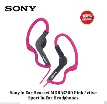 Sony MDRAS200 Pink Active Sport In-Ear Headphones / Earbuds - WATER RESI... - $12.99