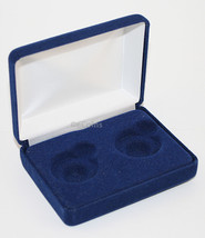 Lot Of 5 Blue Felt Coin Display Gift Metal Box For 2-Quarters Or Presidential $1 - $34.55