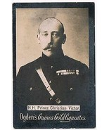 Ogden's Guinea Gold Cigarettes Tobacco Card H.H. Prince Christian Victor... - $3.99