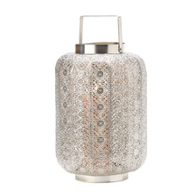 Polished Silver Lace Design Lamp 10015277 - $44.99