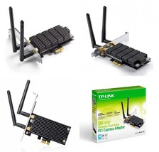 TP-Link Archer T6E AC1300 Dual Band Wireless PCI Express Adapter with Tw... - $73.26