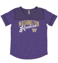 NWT Blue 84 NCAA Washington Huskies Adult Women Dyed Varsity Tee, Size L Ret $35 - $14.92