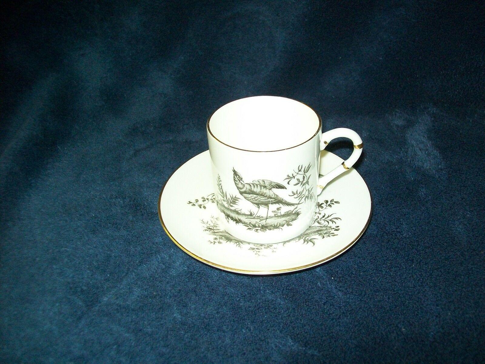 Royal Worcester Black Pheasant Demitasse Cup & Saucer Set s