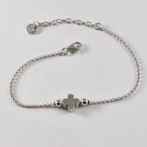 Silver 925 Bracelet Jack&co Clover Good Luck Stylised JCB0819 - $51.23