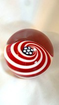 Glass Eye Studio Handcrafted Artist Series Old Glory Paperweight 525-1 - $112.00