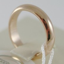 SOLID 18K YELLOW GOLD WEDDING BAND UNOAERRE RING 6 GRAMS MARRIAGE MADE IN ITALY image 2